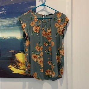 Short cap sleeve blouse